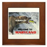 O'MALLEY'S TAXES Framed Tile