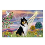 Cloud Angel / Collie Postcards (Package of 8)