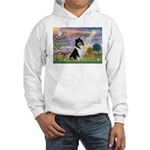Cloud Angel / Collie Hooded Sweatshirt