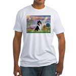 Cloud Angel / Collie Fitted T-Shirt