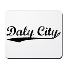 Vintage Daly City (Black) Mousepad