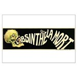 L'Absinthe c'est la mort Large Poster