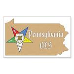 Pennsylvania OES Rectangle Sticker