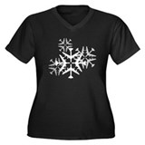 B-52 Aviation Snowflake Women's Plus Size V-Neck D
