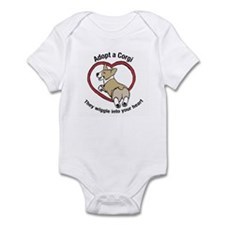Funny Corgi rescue Infant Bodysuit