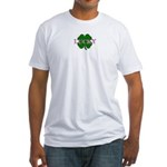 LUCKY CLOVER Fitted T-Shirt