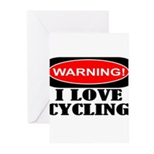I love cycling Greeting Cards (Pk of 20)