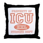 Property Of ICU Nursing Dept Nurse Throw Pillow