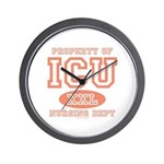 Property Of ICU Nursing Dept Nurse Wall Clock