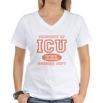 Property Of ICU Nursing Dept Nurse Women's V-Neck