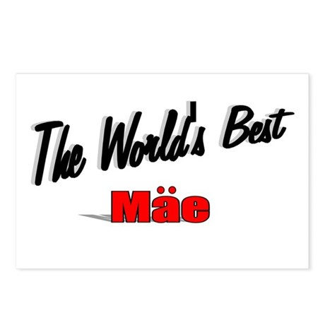 """The World's Best Mae"" Postcards (Package of 8)"