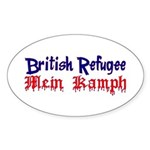 British Refugee Oval Sticker