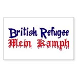 British Refugee Rectangle Sticker