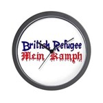 British Refugee Wall Clock