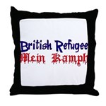 British Refugee Throw Pillow
