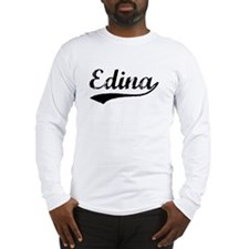 Vintage Edina (Black) Long Sleeve T-Shirt