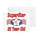 Superstar at 25 Greeting Card