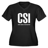 CSI Women's Plus Size V-Neck Dark T-Shirt