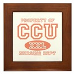 Property Of CCU Nurse Framed Tile