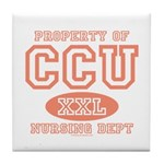 Property Of CCU Nurse Tile Coaster