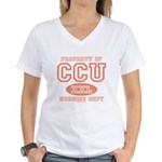Property Of CCU Nurse Women's V-Neck T-Shirt