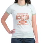 Property Of CCU Nurse Jr. Ringer T-Shirt