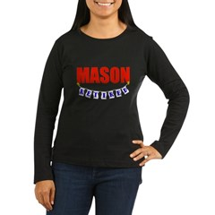 Retired Mason Women's Long Sleeve Dark T-Shirt