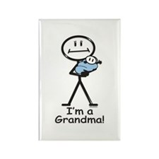 New Grandma Baby Boy Rectangle Magnet