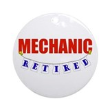 Retired Mechanic Ornament (Round)