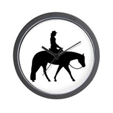 Western silhouette female Wall Clock