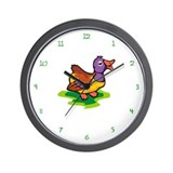 Colorful Duck Wall Clock