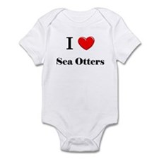 I Love Sea Otters Infant Bodysuit