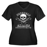 BoneheadgarageII Women's Plus Size V-Neck Dark T-S