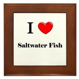 I Love Saltwater Fish Framed Tile