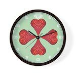 Strawberry Hearts Wall Clock
