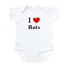 I Love Rats Infant Bodysuit
