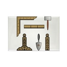 Masonic Working Tools Rectangle Magnet