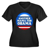 Obama Mama 1 Women's Plus Size V-Neck Dark T-Shirt