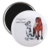 N Great Dane & Horse Magnet