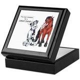 N Great Dane & Horse Keepsake Box