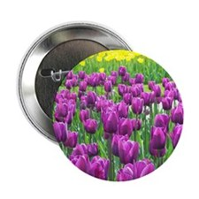 """Spring Easter Tulip Blossms 2.25"""" Button"""