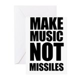 Make Music Not Missiles Greeting Cards (Pk of 10)