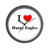 I Love Harpy Eagles Wall Clock