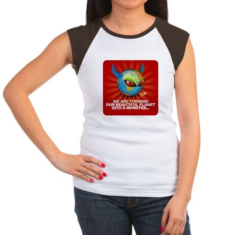 Planet Earth is turning into Women's Cap Sleeve T-