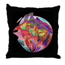 Strange Fish Throw Pillow