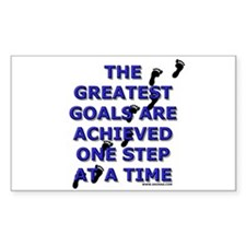 One Step at a Time Rectangle Decal