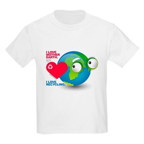 I Love Mother Earth. I love R Kids Light T-Shirt