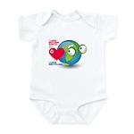 I Love Mother Earth. I love R Infant Bodysuit