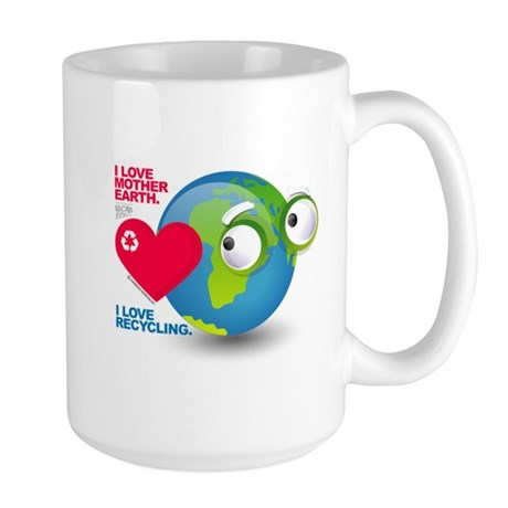 I Love Mother Earth. I love R Large Mug