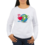 I Love Mother Earth. I love R Women's Long Sleeve